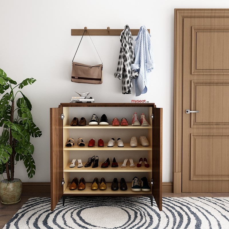 Solid Wood Shoe Cabinet