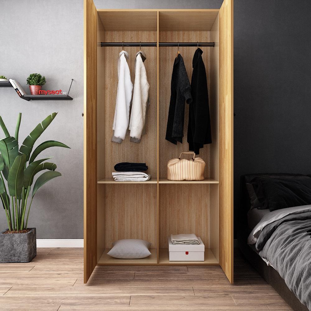 solid wood closet