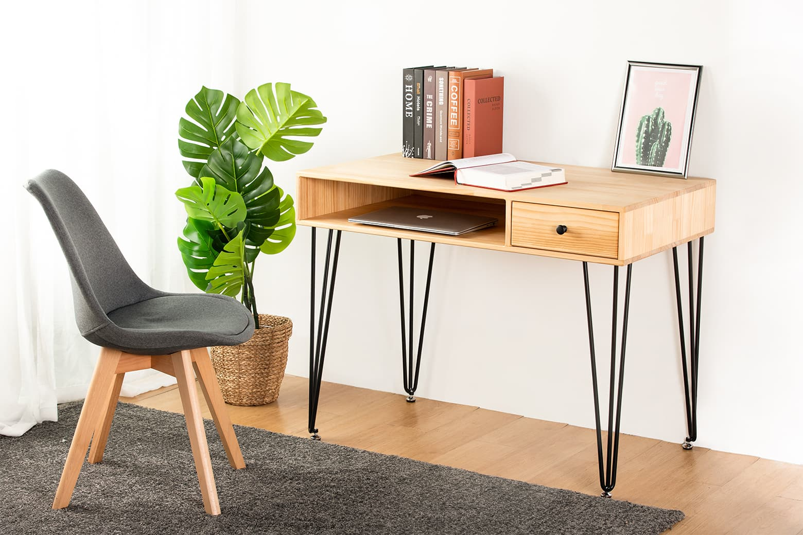 Caster Solid Wood Table